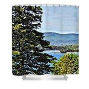 Islesboro View  Shower Curtain