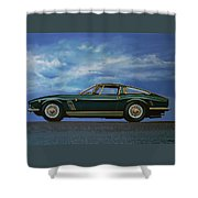 Iso Grifo Gl 1963 Painting Shower Curtain