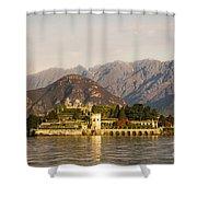 lake Maggiore, Borromean island, Piedmont Italy Shower Curtain