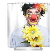 Isolated Clown In A Funny Summer Romance Shower Curtain