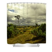 Isolated Windmill Shower Curtain