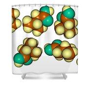 Isovaleric Acid Molecular Models Shower Curtain
