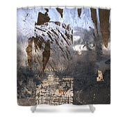 Israel, Jerusalem Abstract Of A Window Shower Curtain
