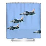 Israeli Air Force F-16  Shower Curtain