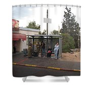 Israeli Bus Stop Shower Curtain