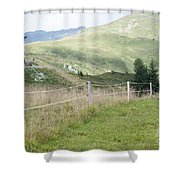 Isskogel Mountain Peak  Shower Curtain