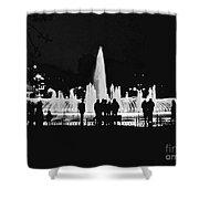 Istanbul Fountain Lights Shower Curtain