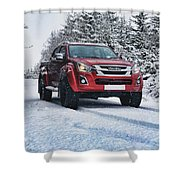 Isuzu In The Snow Shower Curtain