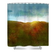 It Began To Dawn Shower Curtain by Antonio Romero