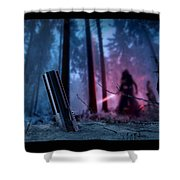 It Calls To You Borders Shower Curtain