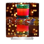 It Feels Like Christmas Shower Curtain by Rima Biswas