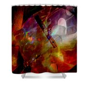 It Is About Time Intersecting Depth Of Heart Shower Curtain