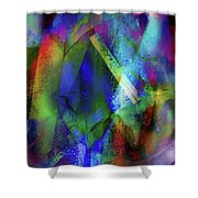 It Is About Time Intersecting Wondrous Cross Shower Curtain