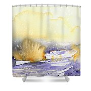 It Is Always Snowing Somewhere 02 Shower Curtain
