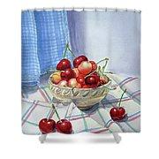 It Is Raining Cherries Shower Curtain