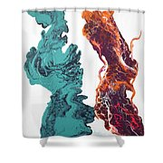 It Takes Two To Tango  Shower Curtain