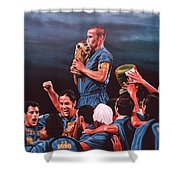 Italia The Blues Shower Curtain
