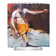 Italian Bathers 1 Shower Curtain