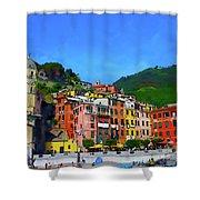Italian Beachside  Shower Curtain
