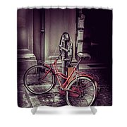 Italian Bike Shower Curtain