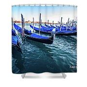 Italian Blue Shower Curtain