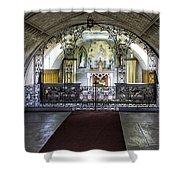 Italian Chapel Interior Shower Curtain