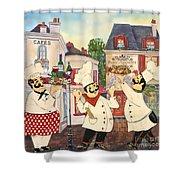 Italian Chefs-jp3042 Shower Curtain
