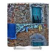 Italian Clothes Dryer Shower Curtain