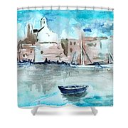 Italian Coast  Shower Curtain by Alexandra-Emily Kokova