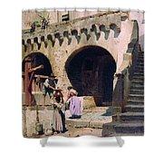 Italian Courtyard Henryk Semiradsky Shower Curtain