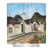 Italian Farmhouses  Shower Curtain