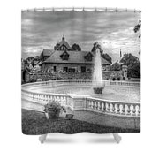 Italian Fountain Maymont B And W Shower Curtain