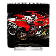 Italian Garage Shower Curtain