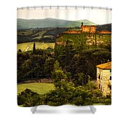 Italian Castle And Landscape Shower Curtain