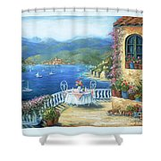 Italian Lunch On The Terrace Shower Curtain