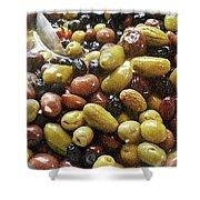 Italian Market Olives Shower Curtain