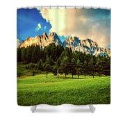 Italian Mountain Meadow Shower Curtain