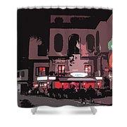 Italian Restaurant At Night Shower Curtain