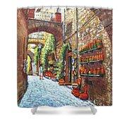 Italian Street Market Shower Curtain