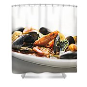 Italian Traditional Seafood Stew  Shower Curtain