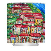 Italian Village On A Hill Shower Curtain