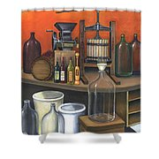 Italian Wine Press Shower Curtain