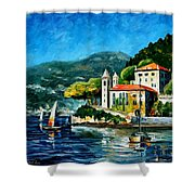 Italy - Lake Como - Villa Balbianello Shower Curtain