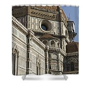 Italy, Florence, Facade Of Duomo Santa Shower Curtain