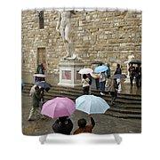 Italy, Florence, Piazza Della Signora Shower Curtain