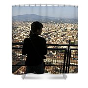 Italy, Florence, Tourist Looks Shower Curtain