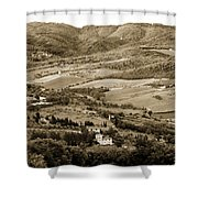 Italy From Above Shower Curtain