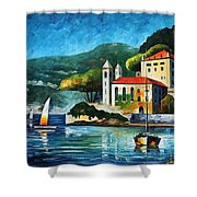 Italy  Lake Como  Villa Balbianello Shower Curtain