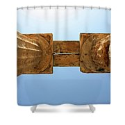 Italy, Sicily - Segesta Temple Detail Shower Curtain