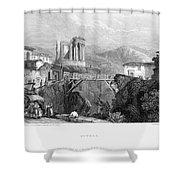 Italy: Tivoli, 1832 Shower Curtain